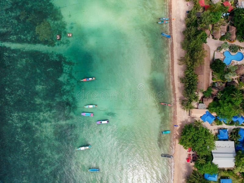 Sairee plaża, Koh Tao zdjęcie stock