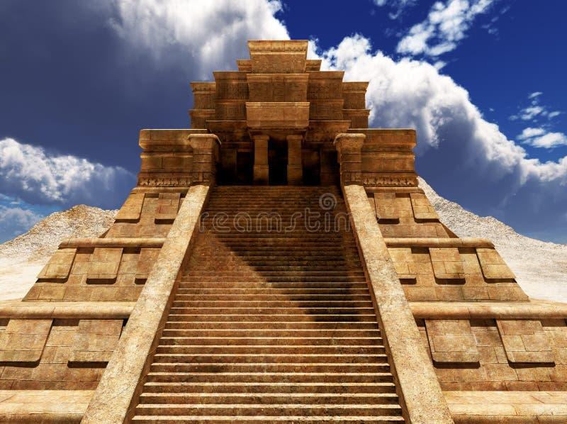 Sairs of Mayan temple royalty free stock photography