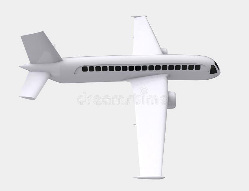 Saisie réelle d'isolement de côté droit de vol d'avion illustration stock