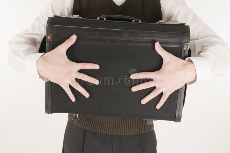 saisir la valise d'homme images stock