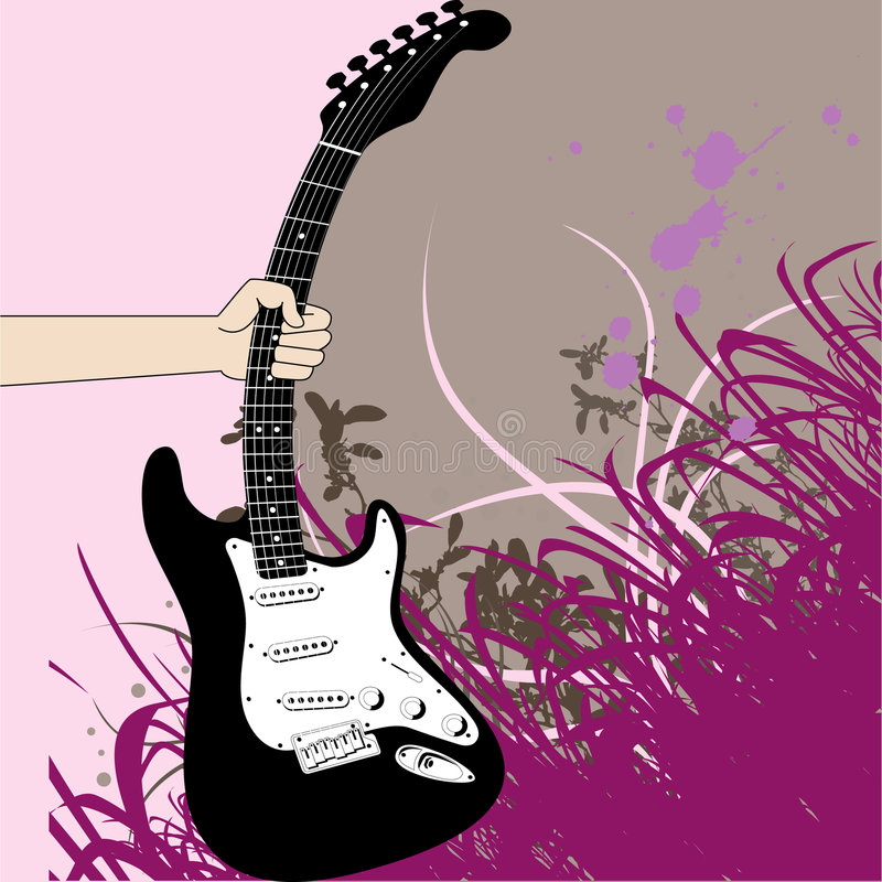 Saisissez la guitare illustration libre de droits