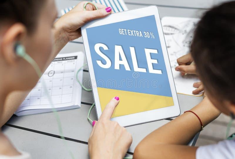 Saison concept d'offre de dégagement de promotion des ventes du meilleur image libre de droits