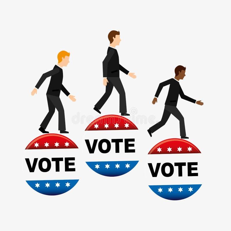 Saison d'élection illustration libre de droits