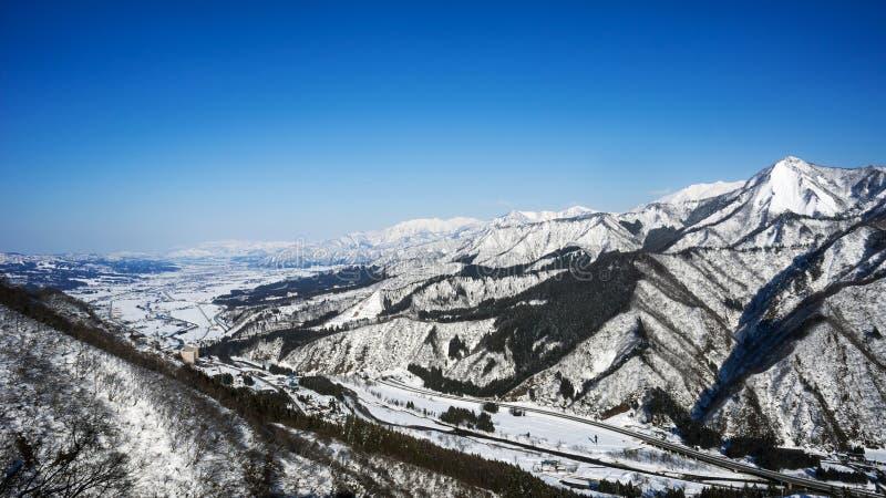 Saison d'hiver dans Yuzawa, préfecture de Niigata, Japon photographie stock libre de droits