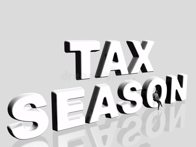 Saison d'impôts. illustration de vecteur