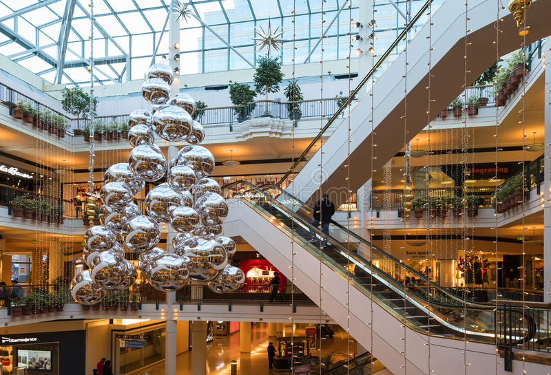 Saison de Noël à l'endroit pionnier à Portland, OU photo stock