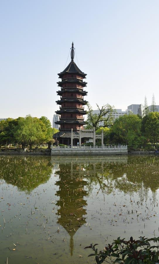 Saison de pagoda de Feiying au printemps photos stock