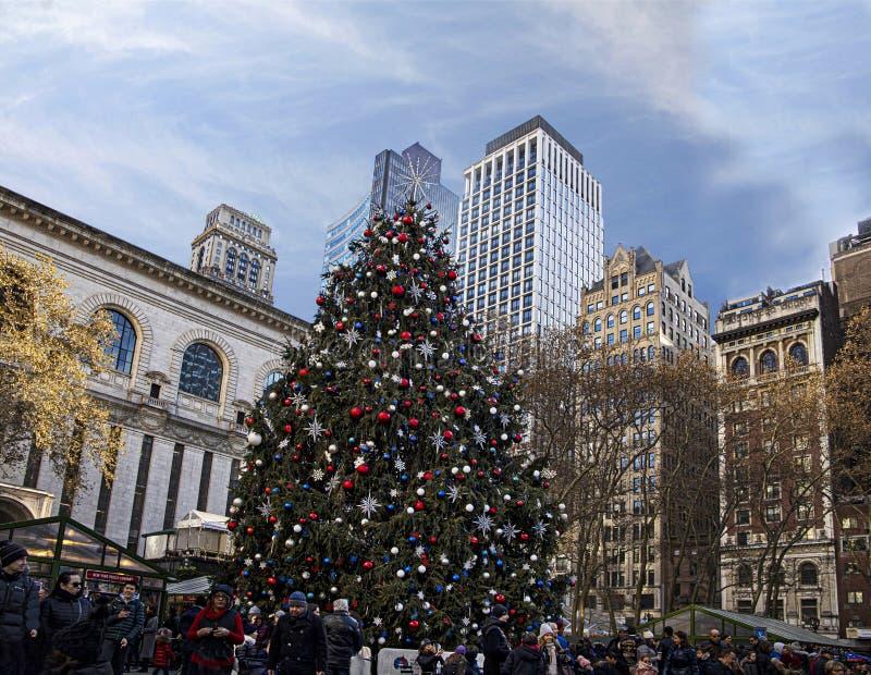 Saison de vacances à Bryant Park, Manhattan photos stock