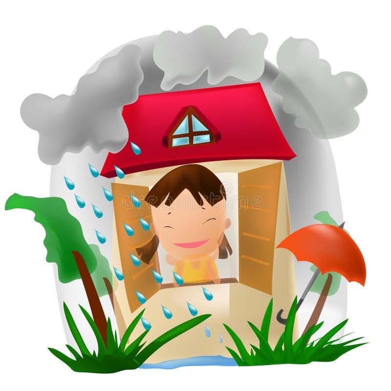 Saison des pluies illustration stock