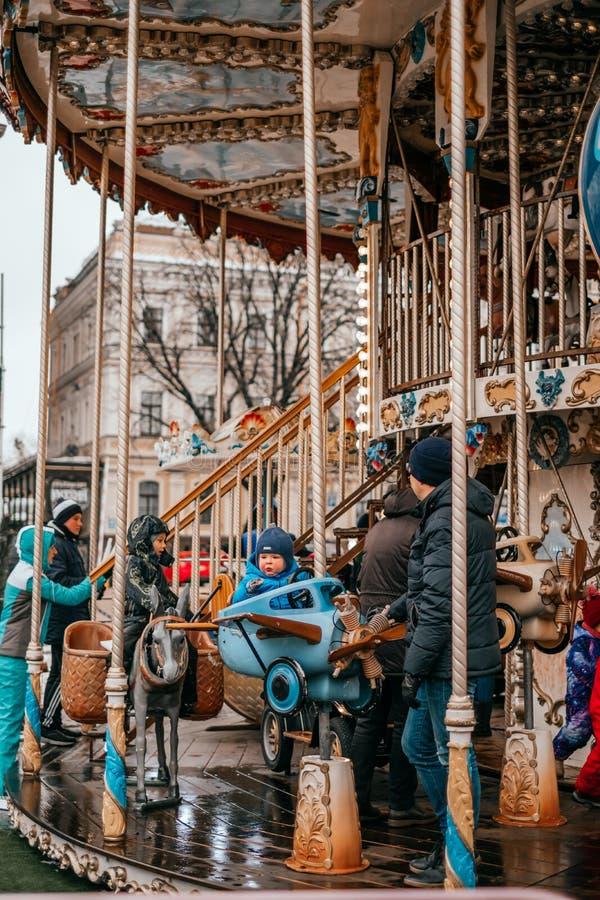Saison des vacances à Kiev images libres de droits