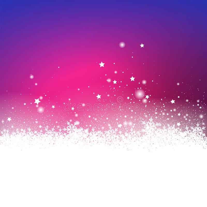 Saison des vacances abstraite d'effet de Violet Snow Particle et d'étoiles GR illustration libre de droits