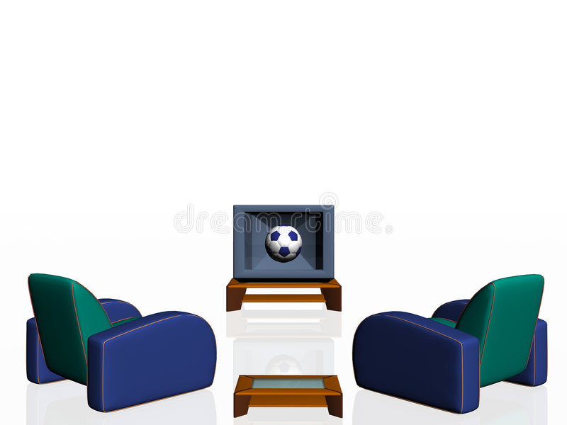 Saison du football. illustration de vecteur