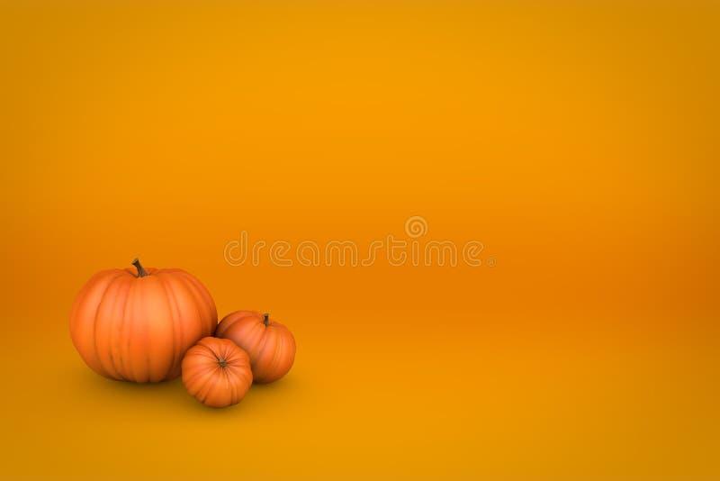 Saisonhintergrund des orange Kürbisfalles stock abbildung