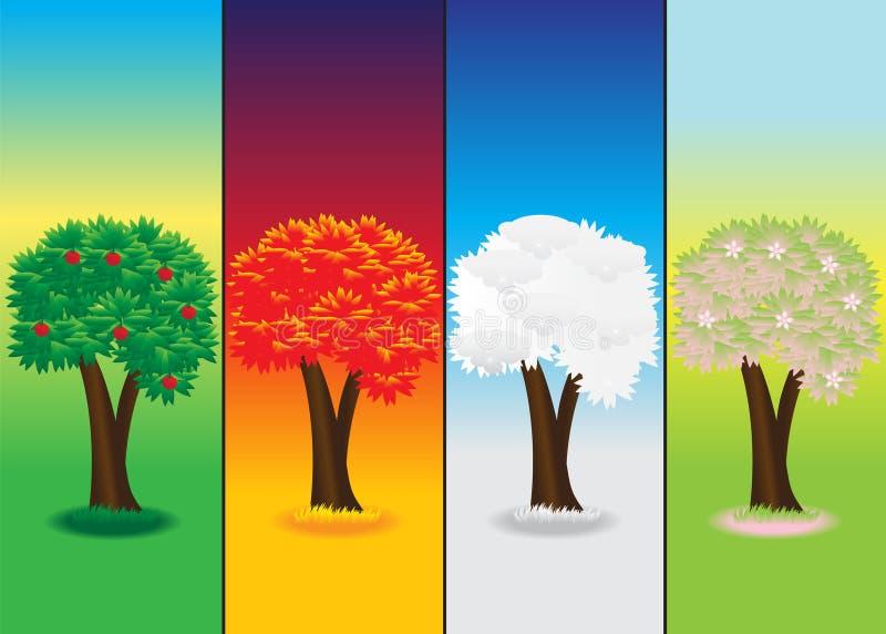 Saisons. illustration libre de droits