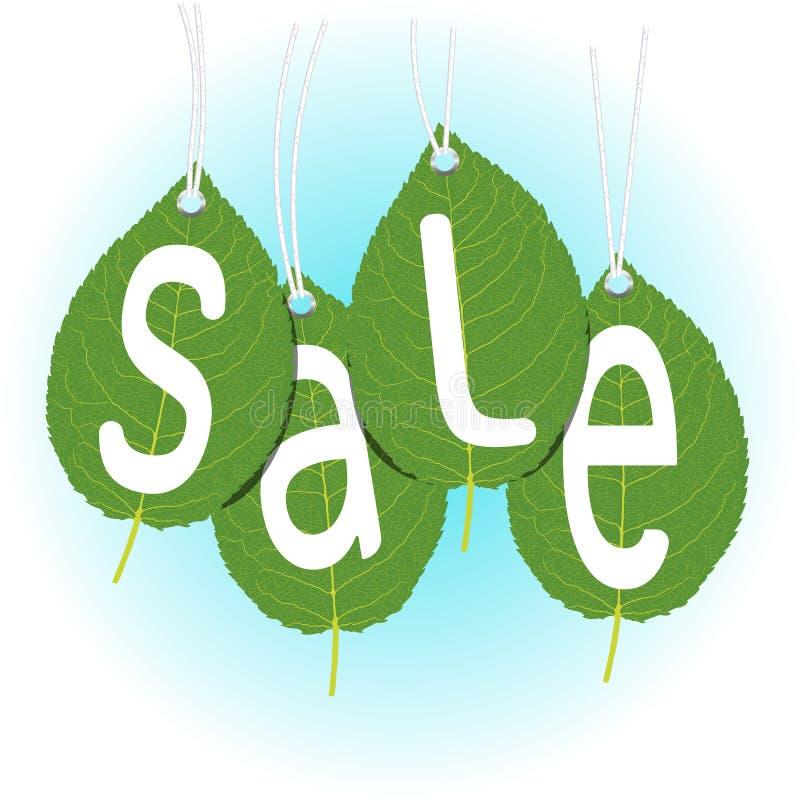 Saisonverkauf, die Aufschrift auf den Blättern lizenzfreie stockbilder