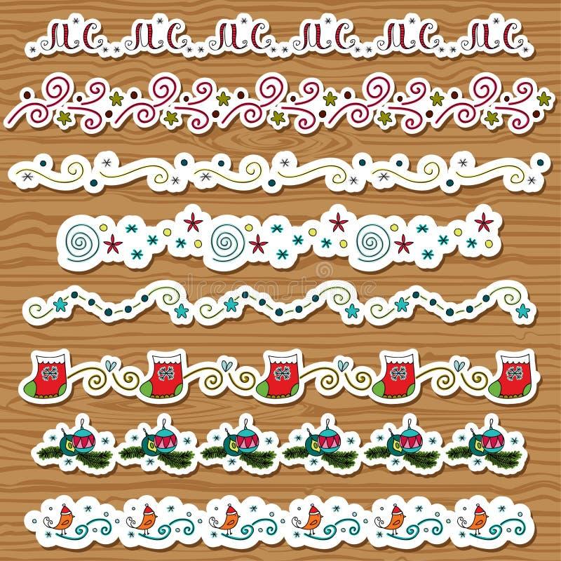 Download Saisonweihnachtspinsel vektor abbildung. Illustration von abbildung - 27730411
