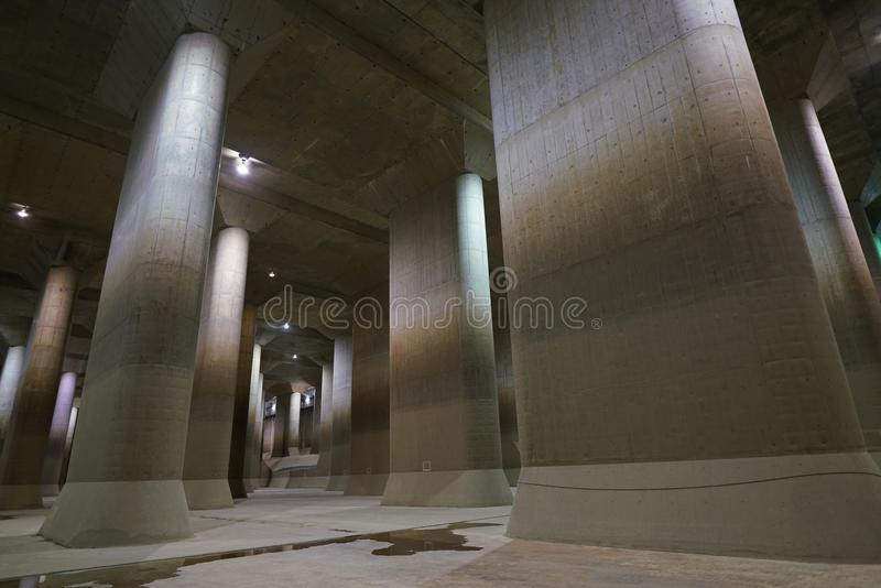 The Metropolitan Area Outer Underground Discharge Channel royalty free stock photo