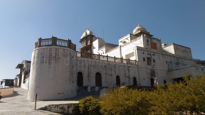 Sajjangarh-Palast-Monsunpalast von udaipur lizenzfreies stockbild