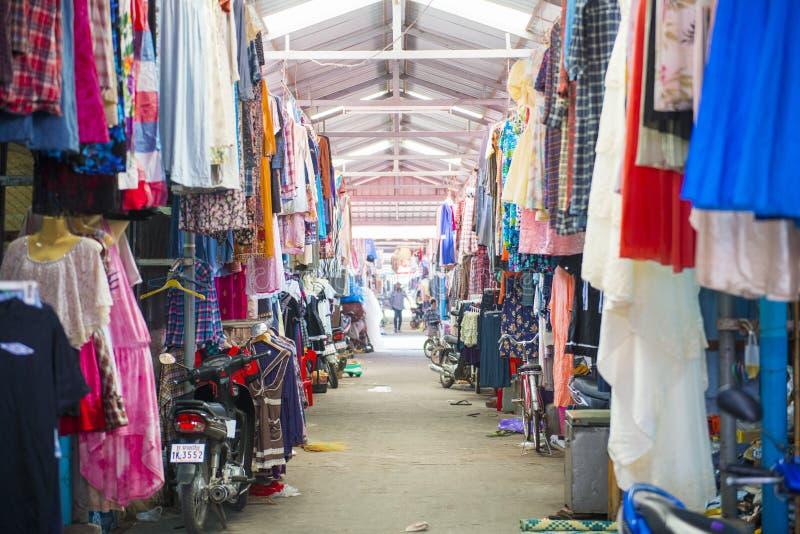 SAKAEO, THAILAND - MAY 21, 2016 : Rong Kluea market border trade royalty free stock photo