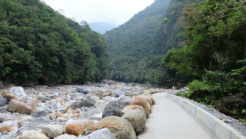 Sakatang ślad, TAROKO park narodowy fotografia royalty free