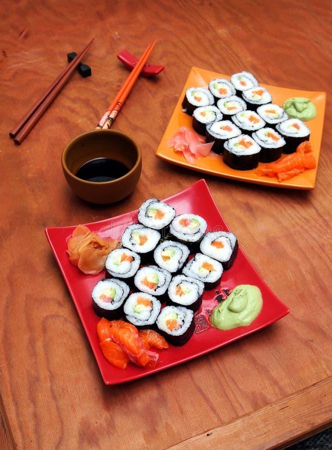 Download Sake avocado maki sushi stock image. Image of chopsticks - 6553495