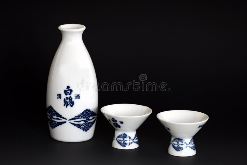 Download Sake For Two stock image. Image of japanese, sake, pourer - 90345