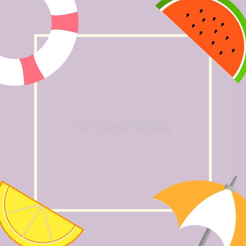 Saker för beståndsdel för plan för designaffärsvektor för illustration för begrepp tom för kopia bakgrund för utrymme modern abst vektor illustrationer