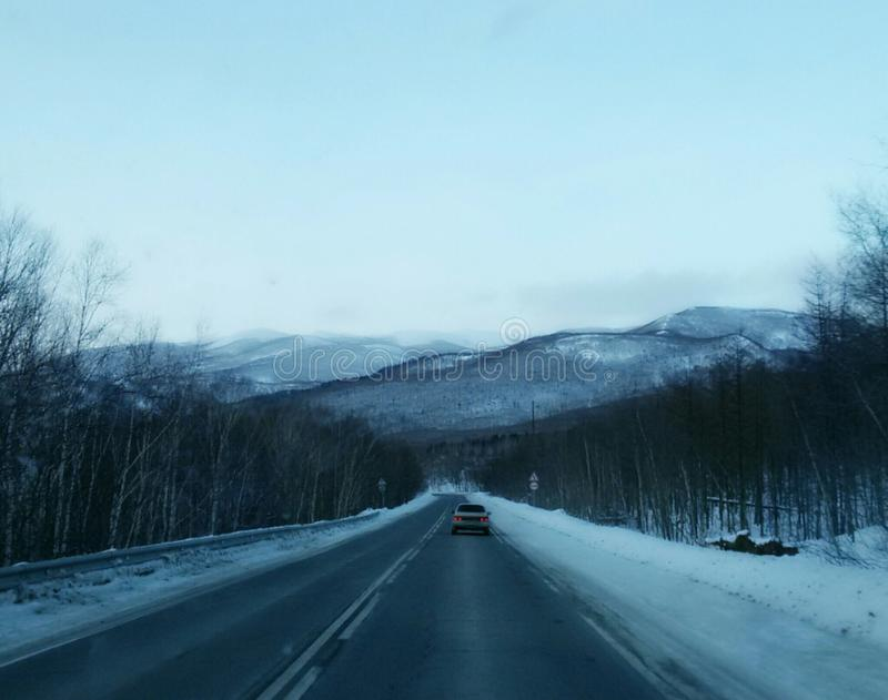 Sakhalin road royalty free stock image