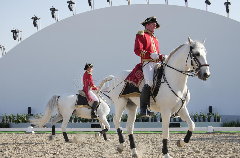 Download Sakhir, Bahrain Nov 26: Lipizzaner Stallions Show Editorial Stock Photo - Image: 17208233