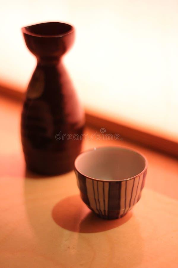 Saki in restaurant stock fotografie
