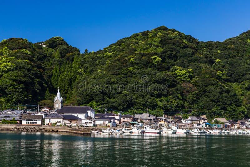 Sakitsu kościół w Amakusa, Kyushu, Japonia obraz royalty free