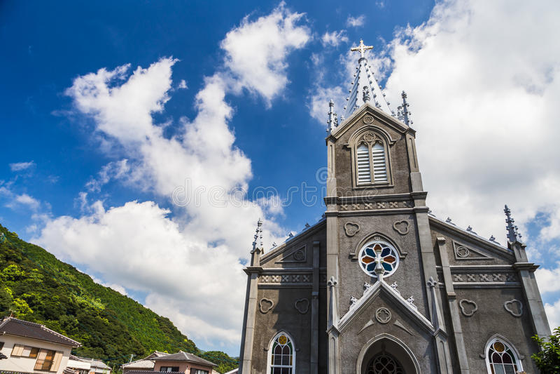 Sakitsu kościół w Amakusa, Kyushu, Japonia zdjęcie royalty free