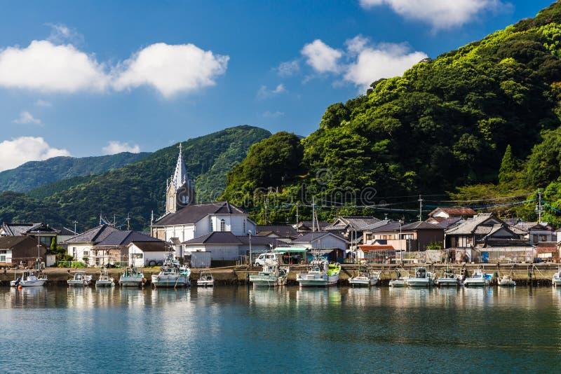 Sakitsu kościół w Amakusa, Kyushu, Japonia obraz stock