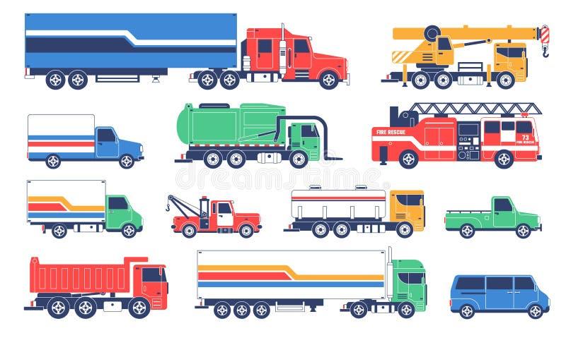 Sakkunnig-avsikt lastbilar Medel för special service royaltyfri illustrationer