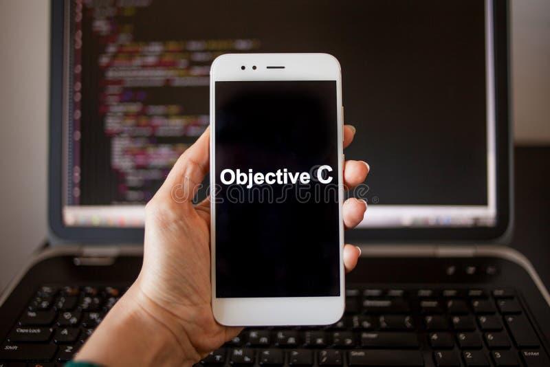 Saklig mobil applikationutveckling f?r C, programmera spr?k f?r mobil utveckling fotografering för bildbyråer