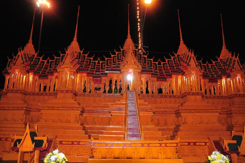 Wax Castle Festival is held annually at the end of the Buddhist Lent. The event are. Sakon nakhon ,Thailand – October 23,2018 : Wax Castle Festival is royalty free stock photos