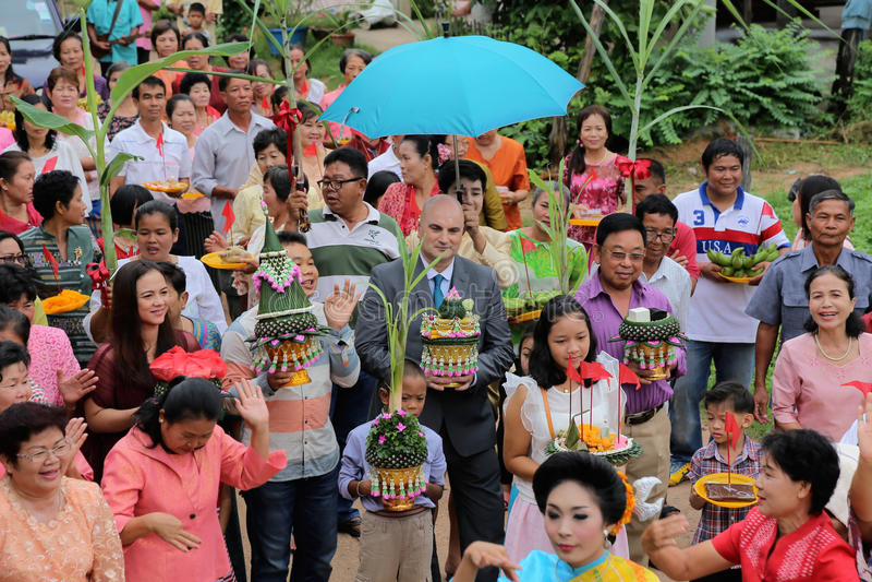 Sakon nakhon, Thailand Op 10 Oktober, M. van 2015 Watson-bakker Youn royalty-vrije stock afbeelding