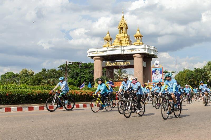 Sakonnakhon THAILAND, AUGUSTI 16-2015: Denna händelse är royaltyfria foton