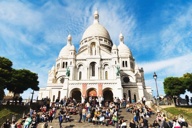 sakral basilicabasilique coeur du hjärta paris sacr arkivbild