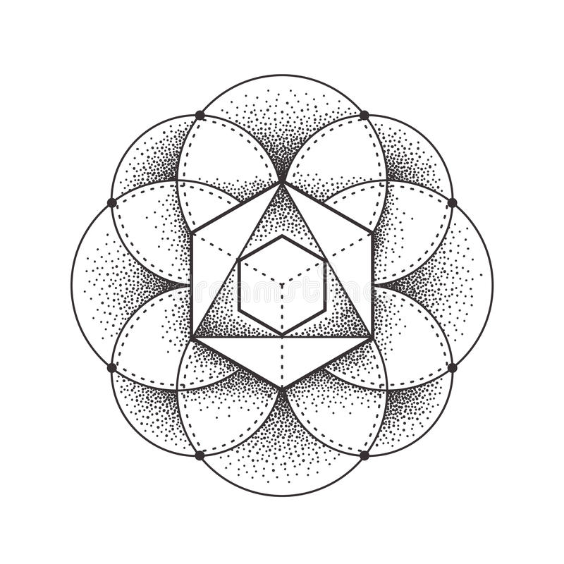 sakral geometri royaltyfri illustrationer