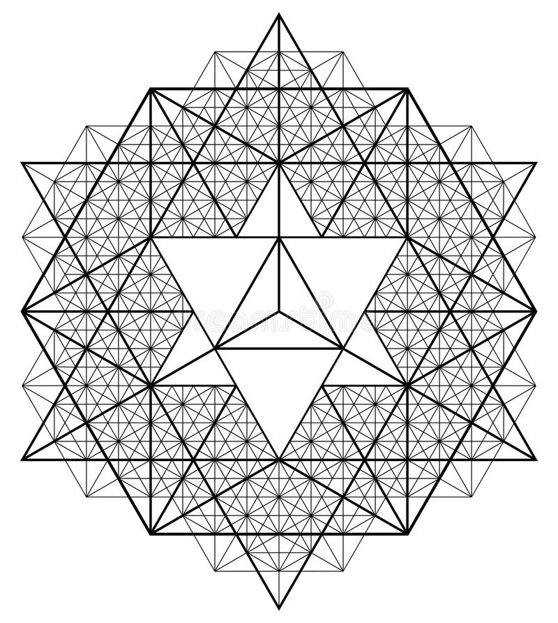 sakral geometri vektor illustrationer