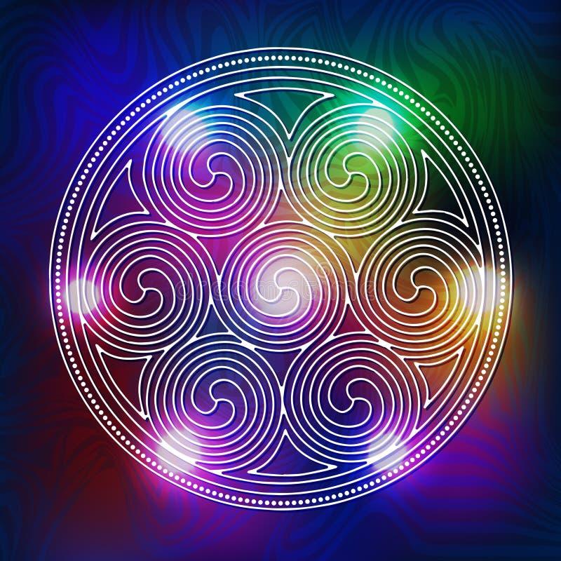 sakral geometri vektor illustrationer