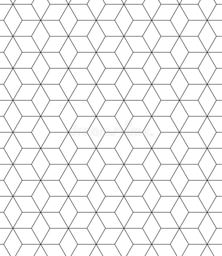 Sakral geometri för svartvit sömlös modell royaltyfri illustrationer