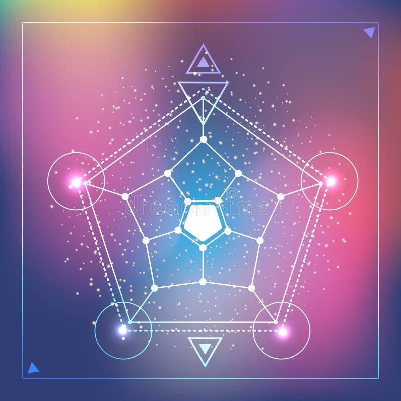 Sakral geometri för vektorvår royaltyfri illustrationer