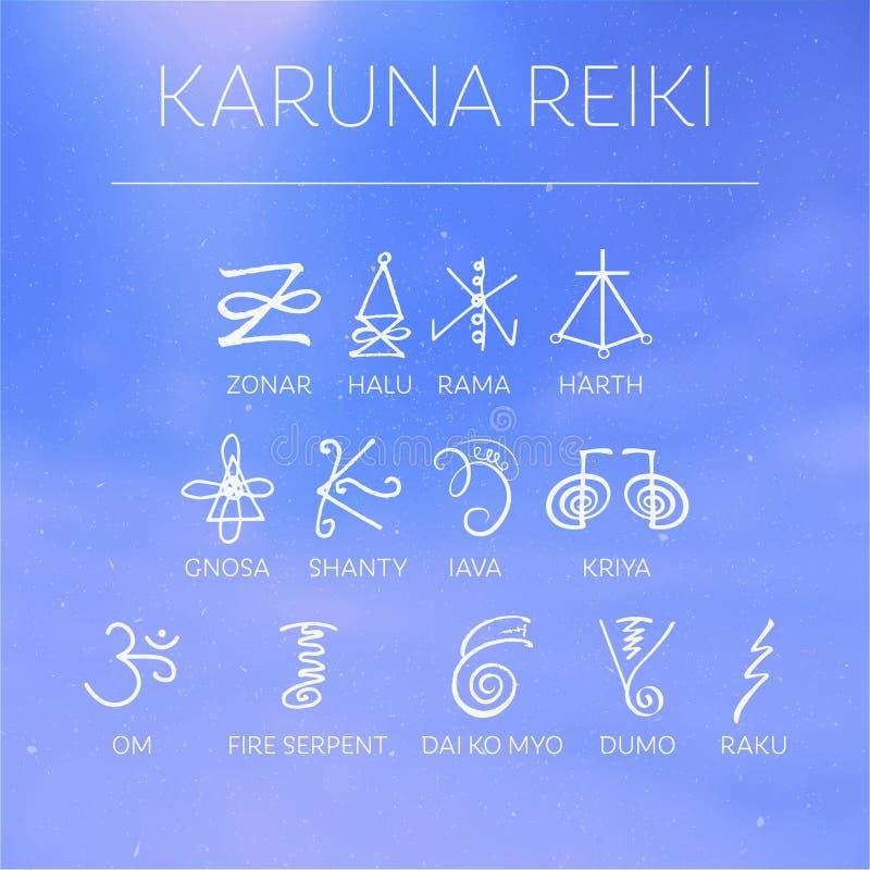 sakral geometri livstid för kien för energikraft betyder gjord japansk upp universalen för reireikisymbol två som word ord royaltyfri illustrationer