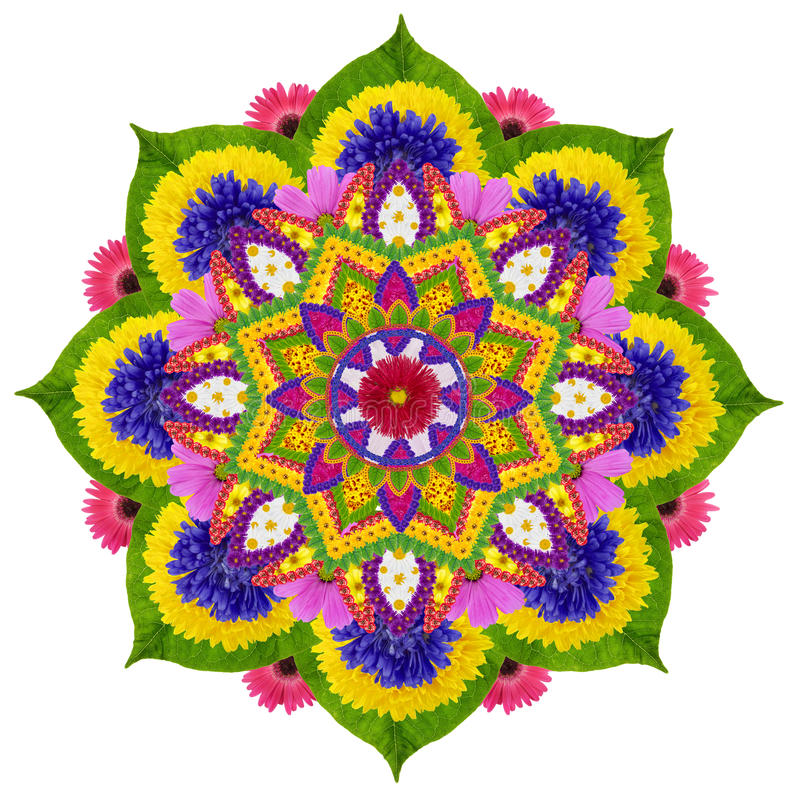 Sakral himmelLotus mandala stock illustrationer