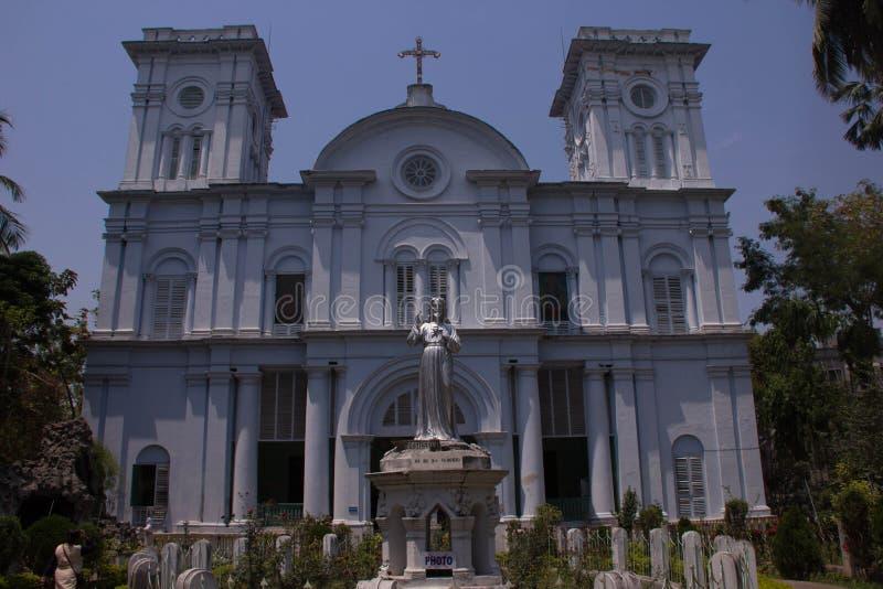 Sakral hjärtakyrka av Chandannagar i Kolkata royaltyfria bilder