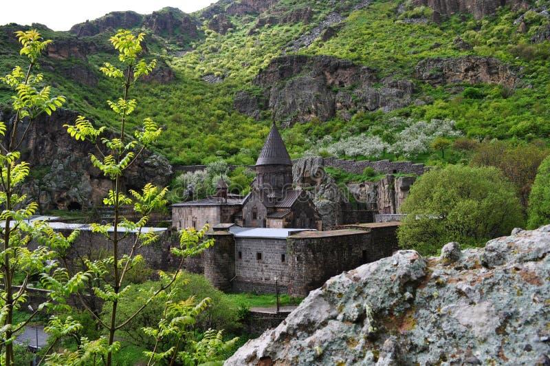 Sakral kloster av Geghard i Armenien arkivfoto