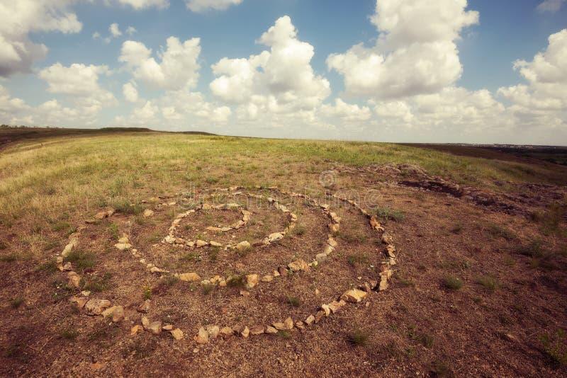 Sakral spiral, symbol av oändligheten arkivfoto