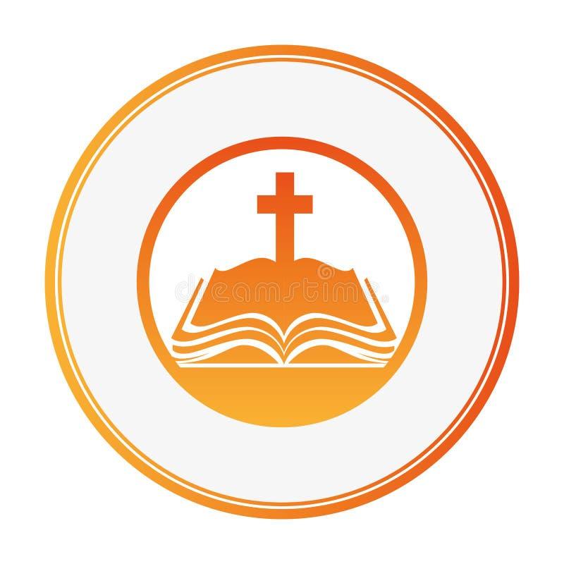 sakral symbol för helig bibel vektor illustrationer